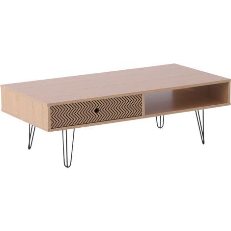 Table Basse Design Scandinave Graphique Dim 110l X 55l X