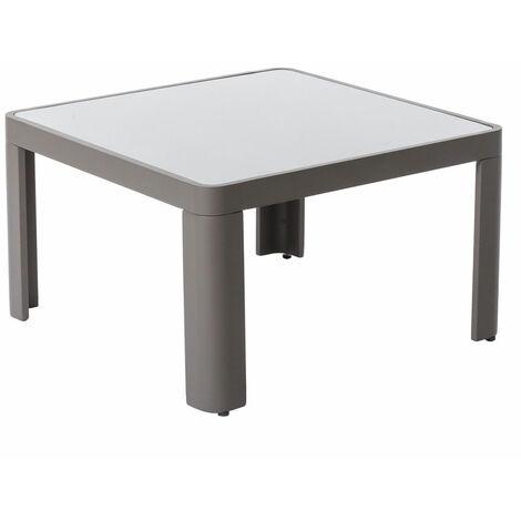 Table basse d'extérieur en aluminium gris Gris 70.00 cm x 70.00 cm x 40.00 - Gris