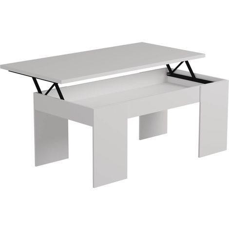 "Table basse ""Diana"" - 100 x 50 x 43 cm - Blanc"