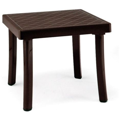 Table basse empilable Rodi 46x46 par Nardi - A associer aux Bains de Soleils et Fauteuils multipositions.