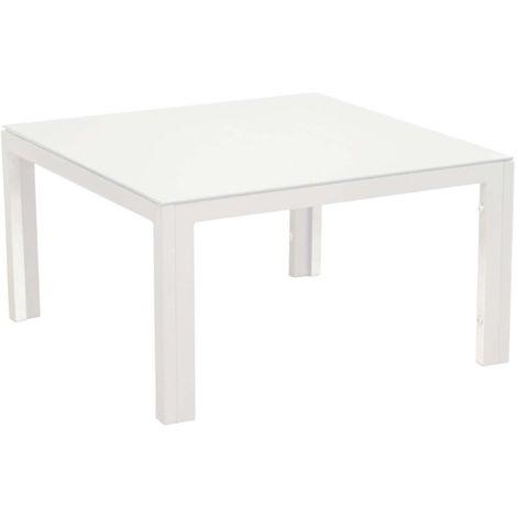 Table basse en aluminium Cortes 60 cm Blanc - Blanc