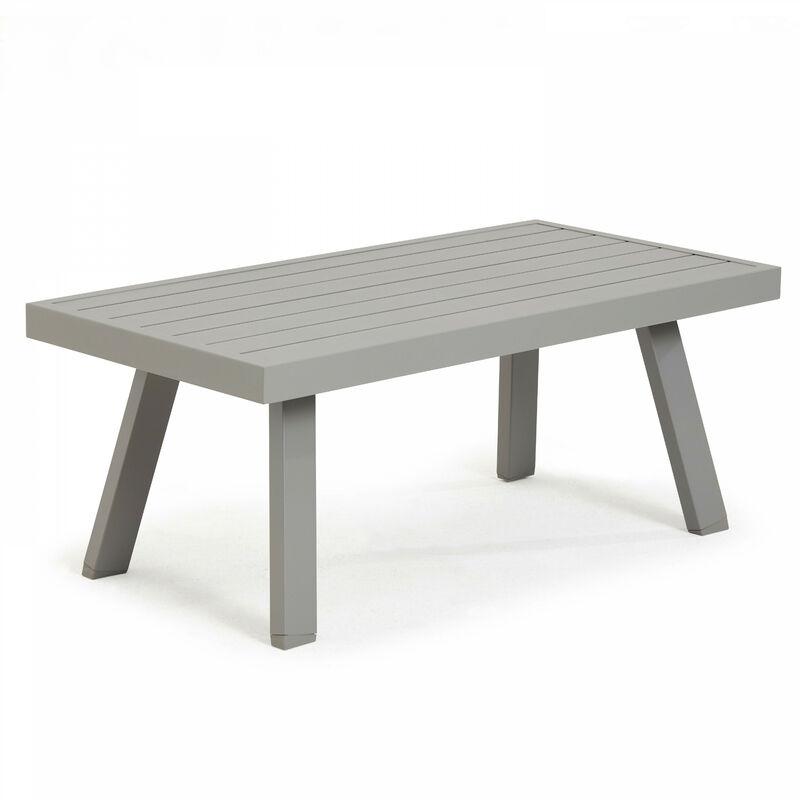 Table basse en aluminium St Tropez Saint Tropez - Taupe - Gris
