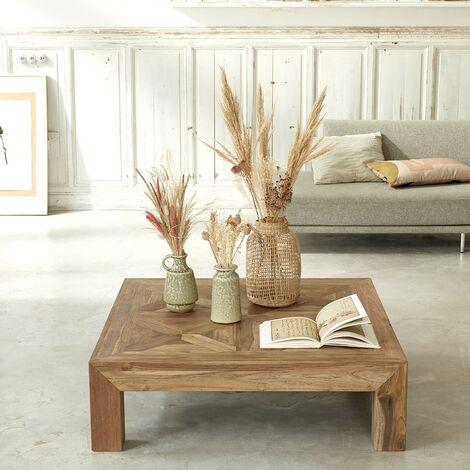 Table basse en bois de teck recyclé 100 - Naturel