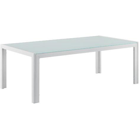 """main image of """"Table Basse Extérieure en Verre Blanc 100 x 50 x 35 cm"""""""