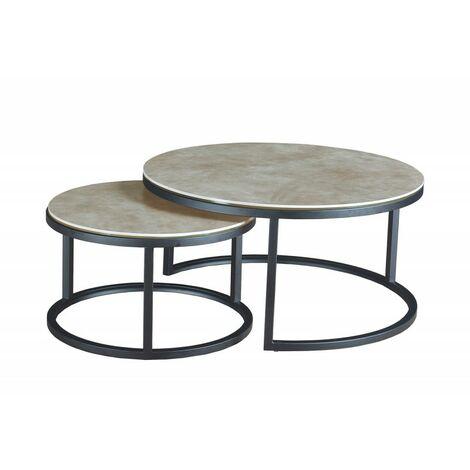 Table De Salon Gigogne.Table Basse Gigogne En Ceramique Oxy