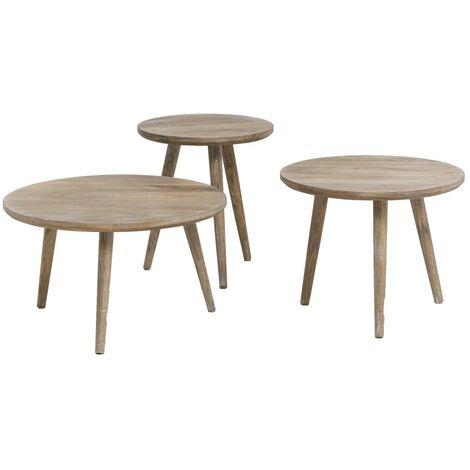 Table basse gigogne scandinave bois - Bois