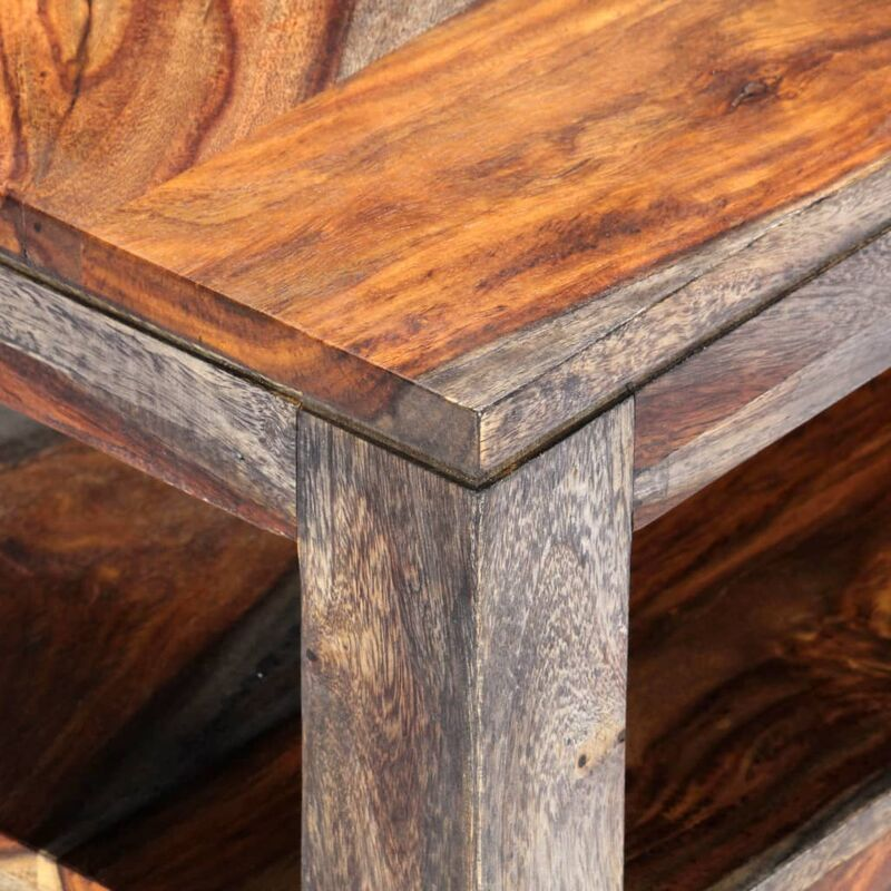 Table Basse Gris 100 X 50 X 40 Cm Bois De Sesham Massif
