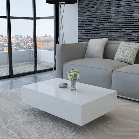 Table basse Haute brillance Blanche