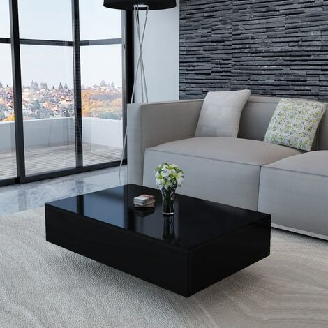 Table basse Haute brillance Noir