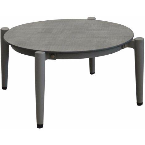 """main image of """"Table basse jardin rétro en aluminium 54 cm Dublin Taupe et luna - Taupe et luna"""""""