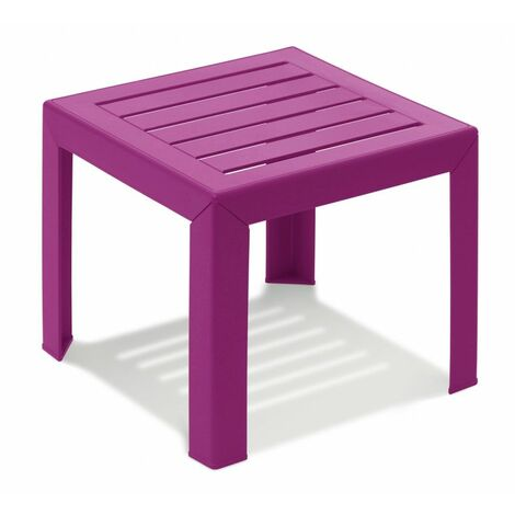 TABLE BASSE MIAMI 40X40X35 coloris fuchsia