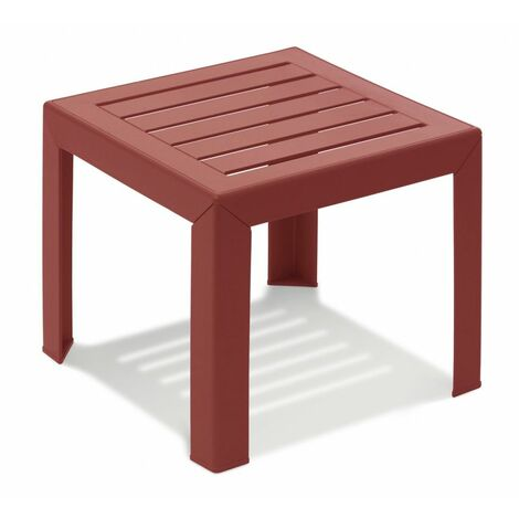TABLE BASSE MIAMI 40X40X35 coloris rouge bossa nova