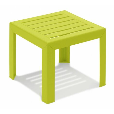 TABLE BASSE MIAMI 40X40X35 coloris vert anis