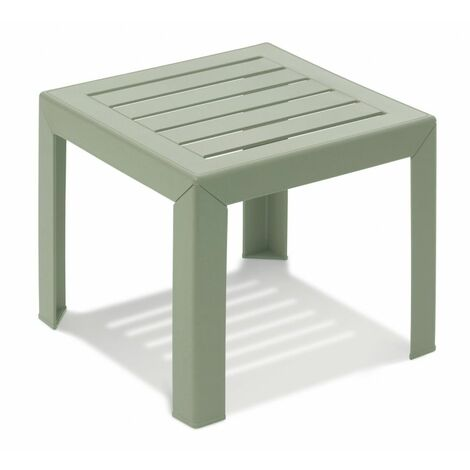 TABLE BASSE MIAMI 40X40X35 coloris vert tender