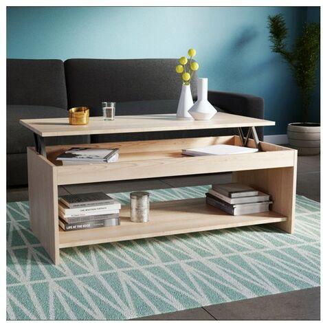 Table basse OREGON 120x60cm / Chêne Blanchi
