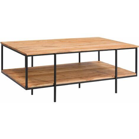 Table basse Pamela en bois et métal - Bois clair