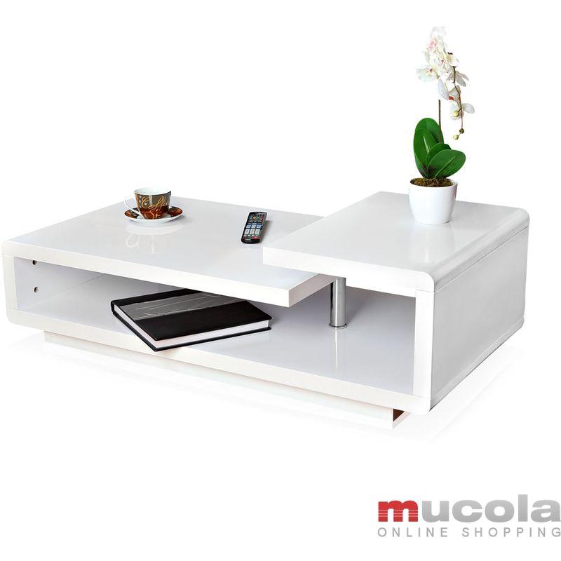 Petite Table Basse Design.Table Basse Petite Table De Salon Table Design Mdf Blanc Brillance Elevee