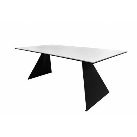 "main image of ""Table basse plateau céramique blanc - OPALE - Blanc"""