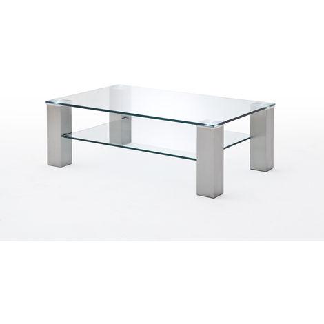 Table Basse Plateau En Verre L110 X H70 X P40 Cm Pegane 53mc