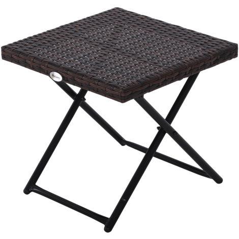 Table basse pliable de jardin style cosy chic dim. 40L x 40l x 40H ...