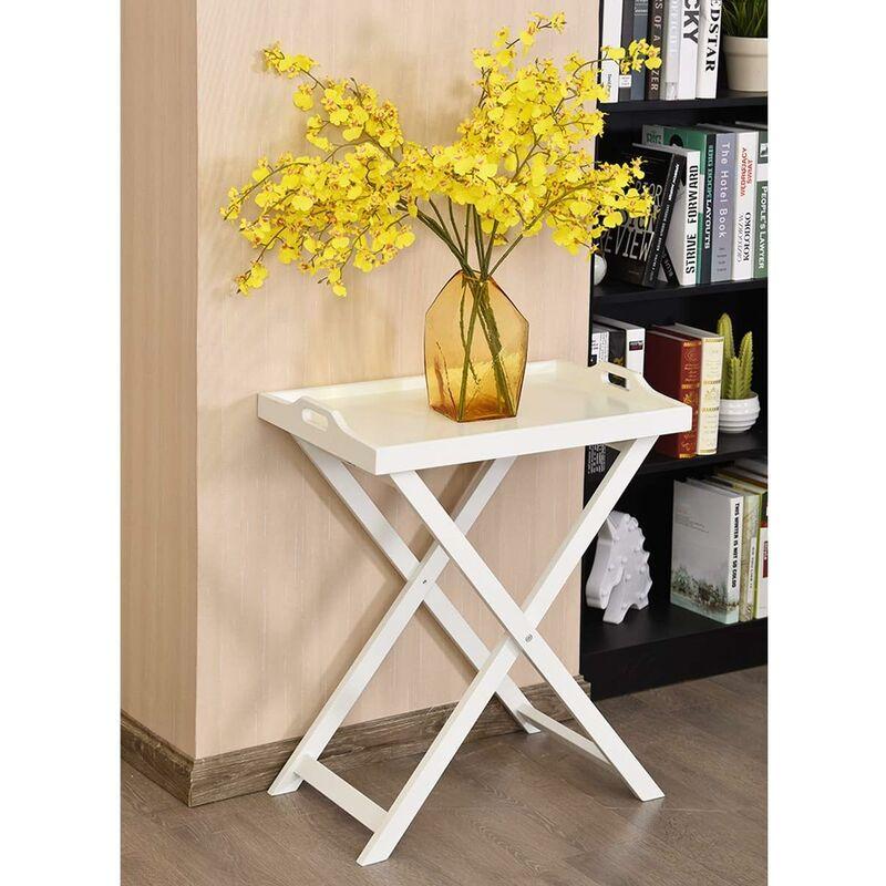Table Pliable Style Repas D'appoint Basse Rangement Laquée X Blanc 5cm 38 Contemporain Pour 58 Pliante Ou 67 En Mdf v80mnwN