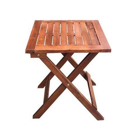 Table basse pliante 45x45 cm en bois d'acacia   bois