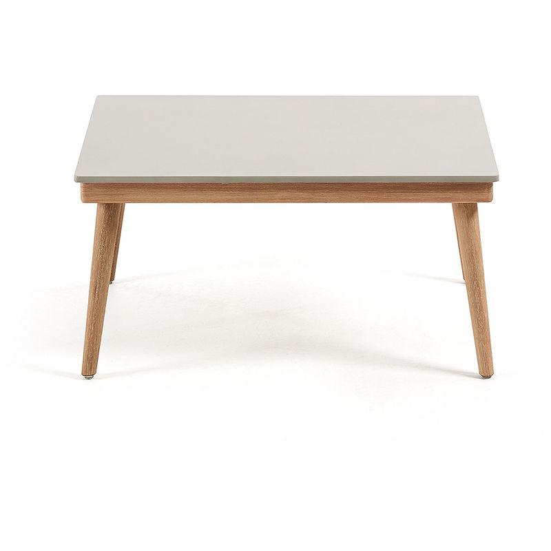 Basse 80x60 Table Eucalyptus Polyciment Pieds Cm Ramson 3lKT1JFc