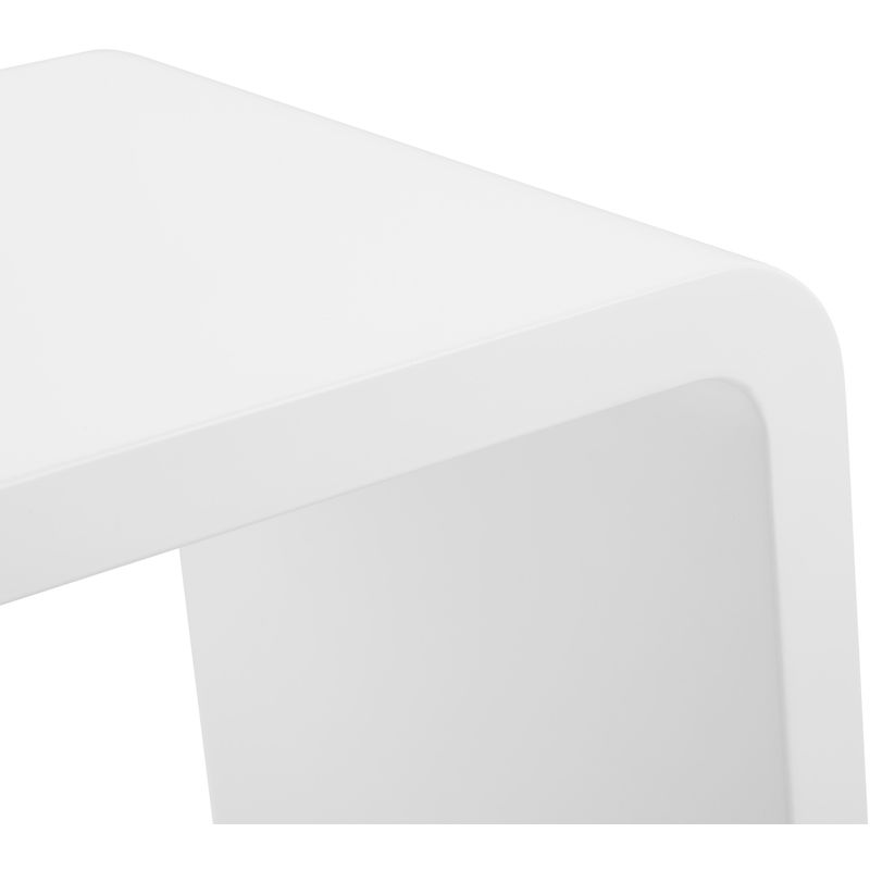 Table Basse Rectangulaire Blanche.Table Basse Rectangulaire Blanche 45 X 90 X 45 Cm Pegane