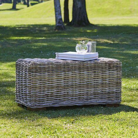 Table basse rectangulaire en kubu naturel - Naturel