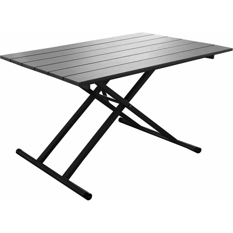Table Basse Relevable En Table A Manger Jardin Pump Gris Bm1130