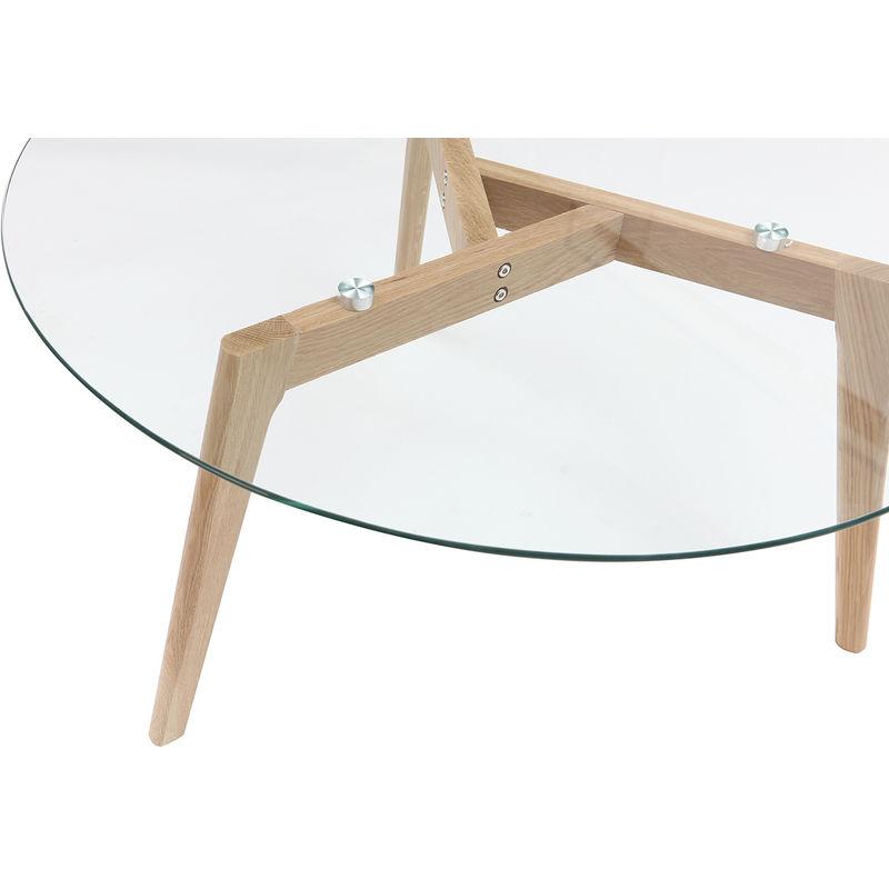 Basse Verre Ronde Contemporain Table Davos Bois Et Design I67vbyYfg
