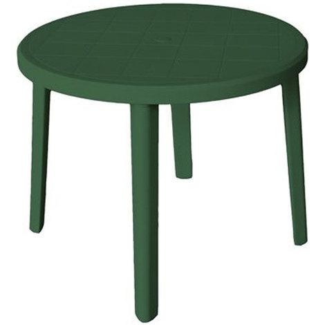 Table Basse Ronde En Résine Verte 90xh70cm Mobilier D Extérieur