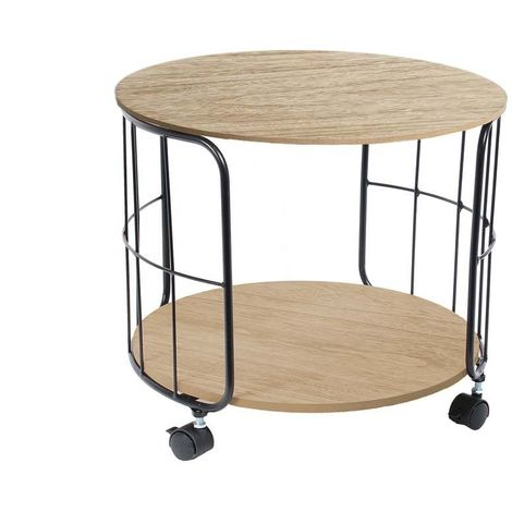 Table basse ronde sur roulettes indus hd6140 - Table basse sur roulette ...
