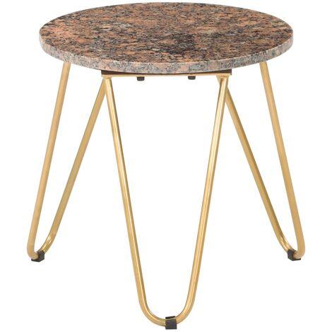 """main image of """"Table basse Rouge 40x40x40 cm Pierre véritable texture marbre"""""""