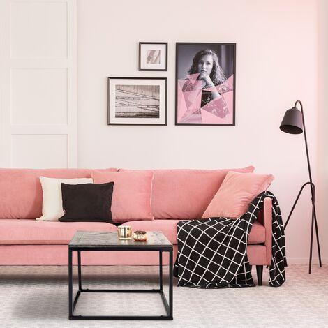 Table basse salon canapé en bois de manguier massif 60 x 60 x 46 cm WOMO-DESIGN®