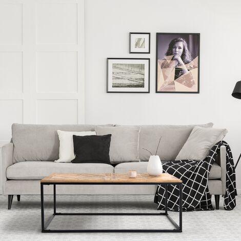 Table basse salon rectangulaire en bois de mangue naturel 120x60cm WOMO-DESIGN®