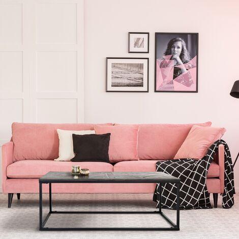 Table basse salon rectangulaire en bois de manguier massif 120x60cm WOMO-DESIGN®