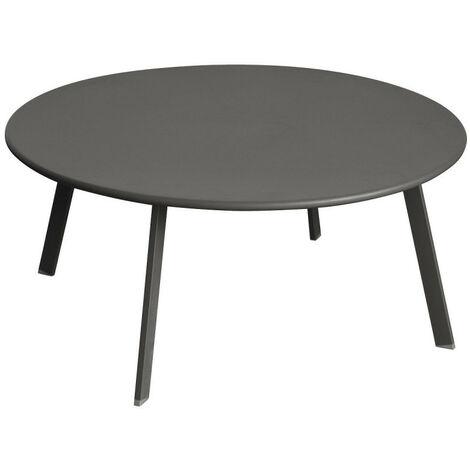 Table basse Saona graphite D 90 cm Hespéride - Graphite