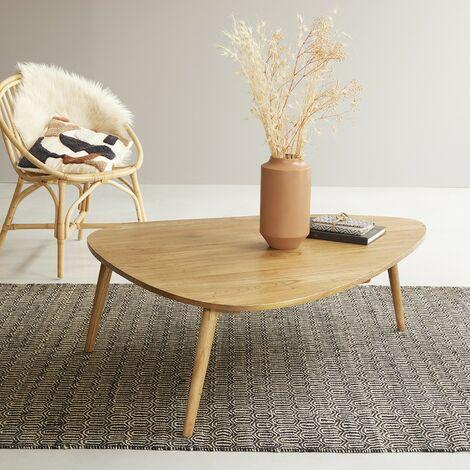 Table basse scandinave en bois de mindy 120 cm - Naturel