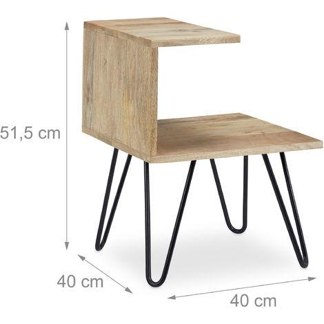 Table Basse Table Appoint Table Chevet Design Original 2 Niveaux