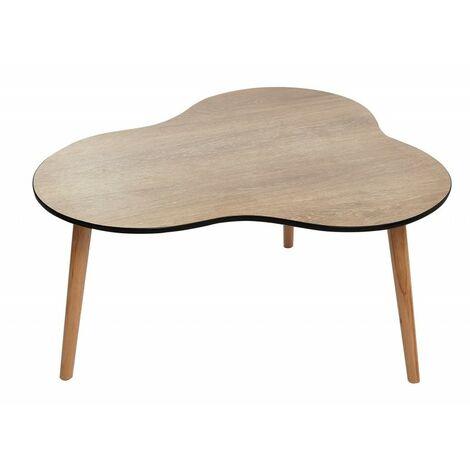 Table Basse Vintage Bois.Table Basse Vintage Bois Naturel Trepied Design Nuage Fifty