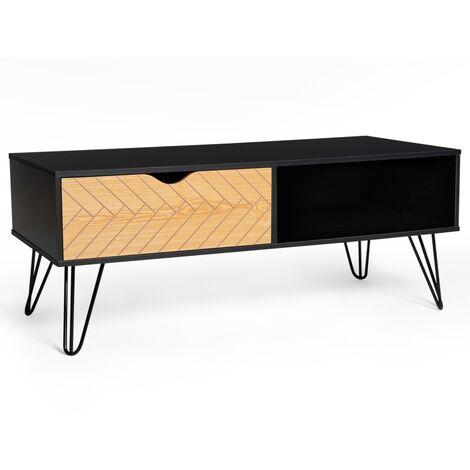 """main image of """"Table basse vintage LEONI motifs graphiques"""""""