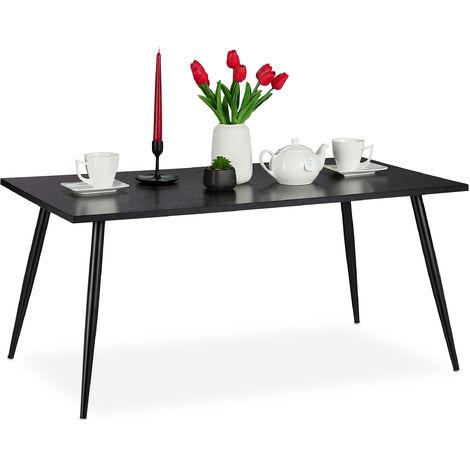 Table basse,support dans salon,pieds en métal rectangulaire,Table dans les dimensions 45 x 100 x 55 cm, noire