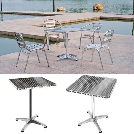 """main image of """"Table Bistro Haute de Bar Aluminium Réglage en Hauteur 70/110 cm Meuble Terrasse Salon"""""""