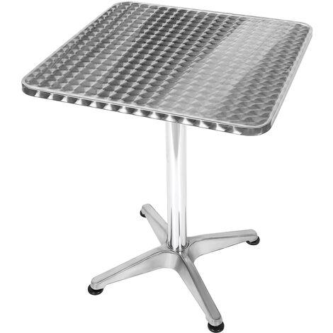 """main image of """"Table Bistro Haute de Bar Aluminium Réglage en Hauteur 70/110cm Ø60cm Meuble Terrasse Salon - Carré"""""""