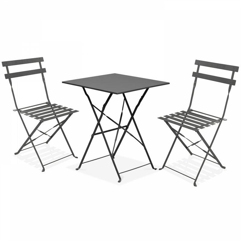 Chaises Jardin Pliantes De 2 Table Et Bistrot LSc54R3qAj