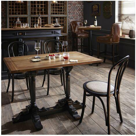 Table bistrot double pieds noir - De Kercoët