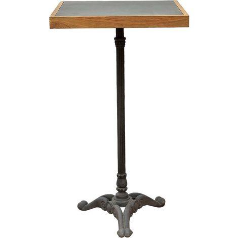 Table bistrot haute pieds fantaisies en fer forgé