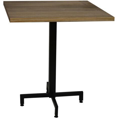 Table bistrot Icub. De pied central plateau carré - industriel vintage – 60x60x75h. cm - Metal Noir
