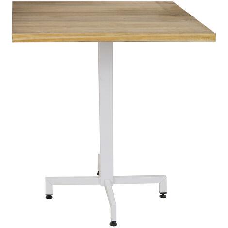Table bistrot Icub pied central plateau carré – 30mm – 70x70x75cm Blanc